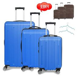 3pc travel luggage set bag trolley spinner