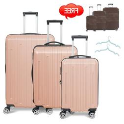 3PC Travel Luggage Set Bag Trolley Spinner Business Hard She
