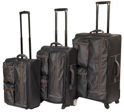 "ROKS 3pc Trolley Luggage Set, 30""Large, 24"" Medium and 20"" C"