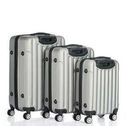 "3PCS 20"" 24"" 28"" Luggage Travel Set Bag ABS Trolley Hard She"