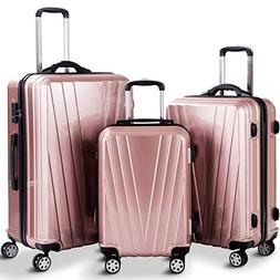 Goplus 3PCS Luggage Set Expandable Travel Suitcase Hardside
