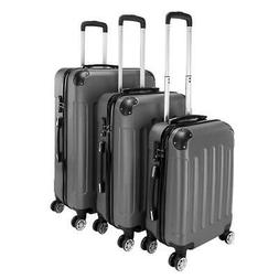 "3Pcs Luggage Set PC+ABS Trolley Spinner 20""24""28"" Suitcase H"