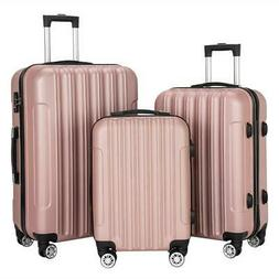 3PCS Luggage Set Travel Bag Lightweight ABS Spinner Suitcase