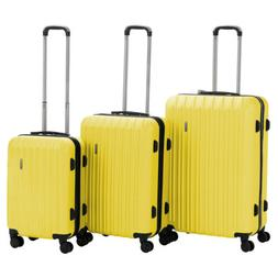 3Pcs ABS Trolley Carry On Travel Luggage Set Bag Spinner Sui