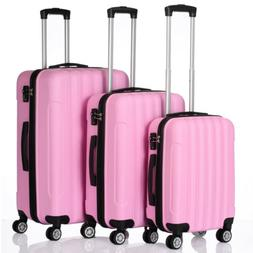 3Pcs Spinner Luggage Set Travel Rolling Suitcase Trolley Cas