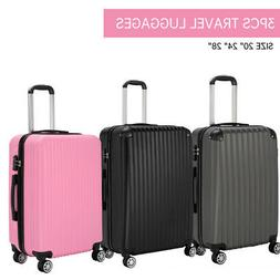 3Pcs Travel Luggage Set Trolley Spinner Suitcase Bag Truely