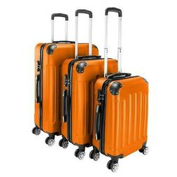 3pcs Travel Spinner Luggage Set Bag ABS Trolley Carry On Sui