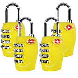 4 Dial Digit TSA Approved Travel Luggage Locks Combination f
