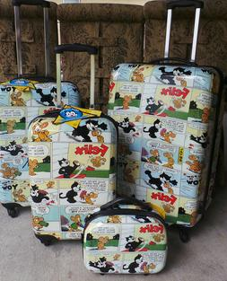 4 Luggage SET NEW Visionair Felix the Cat Comic Book'D 4-pie