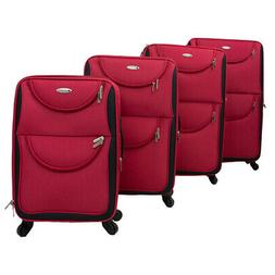 Dumont 4-Piece Expandable Lightweight Spinner Wheeled Luggag