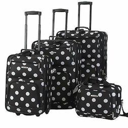 4 Piece Expandable Luggage Set Cute Suitcases Skate wheels B