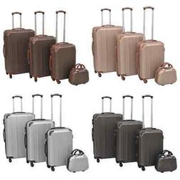 vidaXL 4 Piece Hardcase Trolley Set Trip Travel Luggage Suit