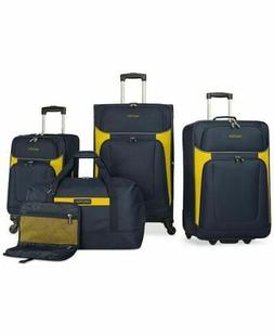 $460 New Nautica Oceanview 5-Piece Luggage Set Spinner Suitc