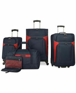 $460 New Nautica Oceanview 5 Piece Luggage Set Spinner Suitc