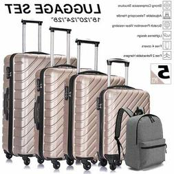 4PC Luggage Set ABS Travel Bag Trolley Spinner Business Hard