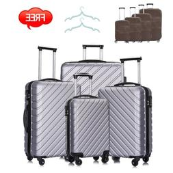 4pc luggage set abs travel bag trolley