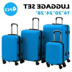 4PCS Luggage Set Travel Bag ABS 360° Spinner Wheels Carry O