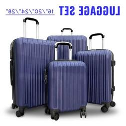 4Pcs Travel Luggage Set Bag ABS Trolley Spinner Suitcase w/L