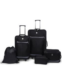 5 PC Luggage Set Airline Approved Large Suitcase With Wheels
