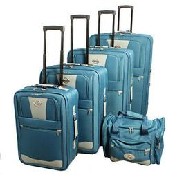 Transworld 5-piece Expandable Wheeled Upright Luggage Set -