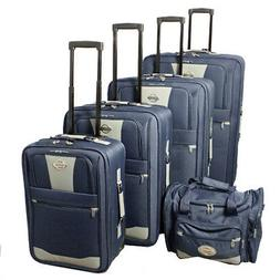 5 piece expandable wheeled upright luggage set