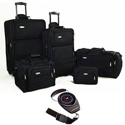 Samsonite 5 Piece Nested Luggage Set Black  with Samsonite P