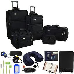 Samsonite 5-Piece Nested Luggage Set, Black with Ultimate 10