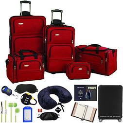 Samsonite 5-Piece Nested Luggage Set, Red with Ultimate 10-P