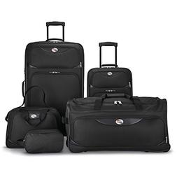 American Tourister 5-Piece Softside, Black