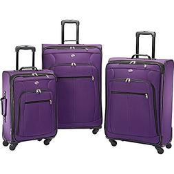 American Tourister At Pops Plus 3 Piece Nested Set, Purple A