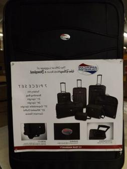 American Tourister 7 Piece Set-Black-NEW