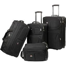 Luggage Sets For Men With Wheels Black Travel Suitcase Carry