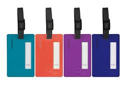 Travelon Set of 4 Assorted Color Luggage Tags, Bold