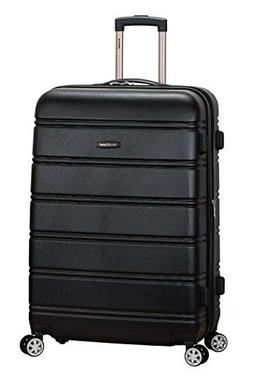 "Rockland Abs 28"" Expandable Spinner Luggage, Black"