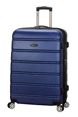 "Rockland Abs 28"" Expandable Spinner Luggage, Blue"