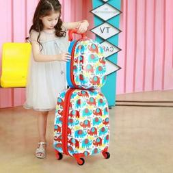 """Adorable Luggage Set For Kids 12"""" And 16"""" Wheels School Trav"""