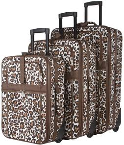 Animal Print Expandable 3 pc Piece Luggage Set for Travel So
