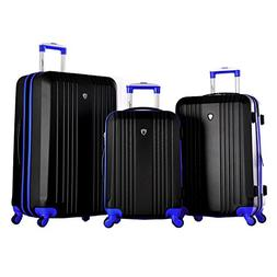Olympia USA Apache 3 Piece Hardcase Spinner Set - Black Lugg