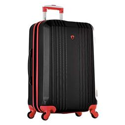 """Olympia Apache Ii 25"""" Carry-on Spinner, Black+RED"""