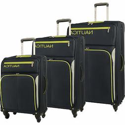 Nautica Ashore Navy 3 Piece Expandable Spinner Luggage Set