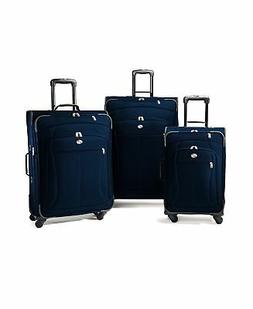 American Tourister At Pop Three-Piece Spinner Set, Navy, One
