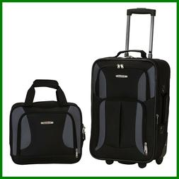 Rockland 2-pc. Black Luggage Set