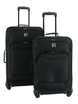Protege 2-Piece Expandable Spinner Set Luggage, Black Travel