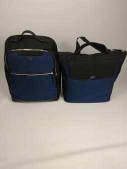 TUMI Blue & Black  LAPTOP Backpack WITH Alex Backpack / Tote