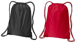 Liberty Bags Boston Sport Drawstring Backpack Bags Set_Red &