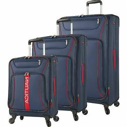 Nautica Bounty 3 Piece Expandable Spinner Set, Navy/Red