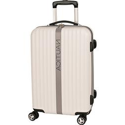 Nautica Carry-On Hardside Expandable Spinner Luggage, White/