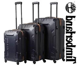 TIMBERLAND CARRY ON LUGGAGE 3 PIECE SET BLUE HARD SUIT CASE