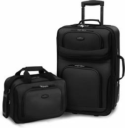 Carry-on Rio Black Rolling Lightweight Expandable Suitcase T