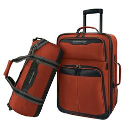 2-Piece Carry-On Rolling Upright & Duffel Bag Luggage Set
